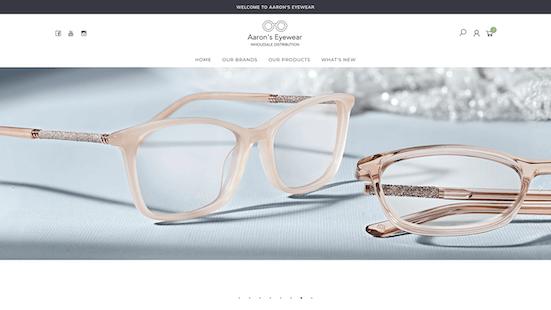 Aaron's Eyewear - Web Design Brisbane