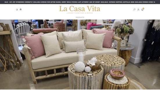 La Casa Vita - Web design & eCommerce Donohue