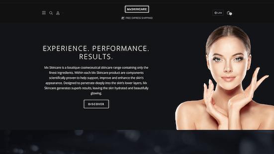 MX Skincare - Neto Web Design