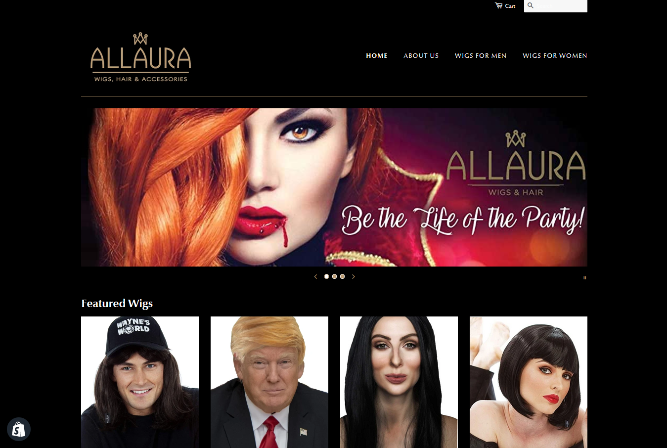 allaura wigs shopify ecommerce partners